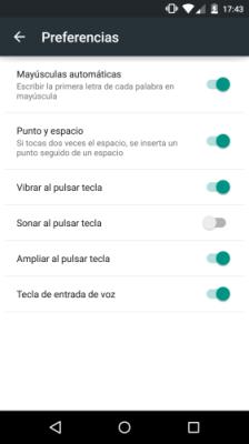 cómo quitar la vibración del teclado en Android